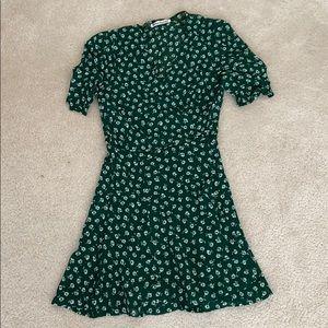 reformation lucky dress wrap dress